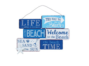perfect nautical style hanging sign great for summer houses beach huts ect