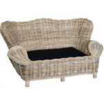 super grey rattan pet sofa