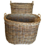 super sizes Grey grey rattan logBaskets